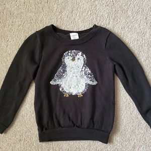 Gymboree cozy sequin penguin sweater